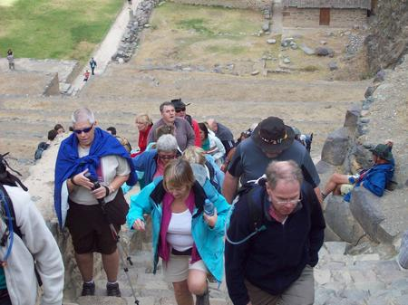 The team explore Cusco whilst aclimatising.