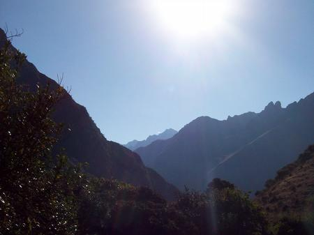 Waking up to the stunning back drop of the Andes