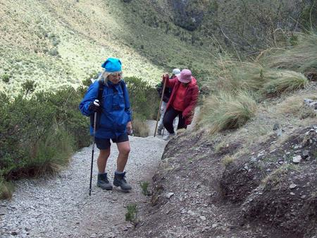 Parts of the trail were steep, arduous and tough!