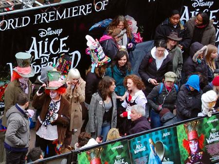 Alice in Wonderland premiere