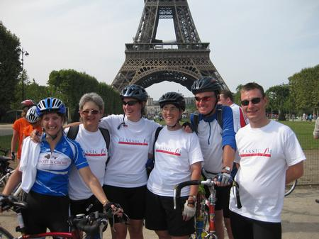 Cycle London to Paris Finish