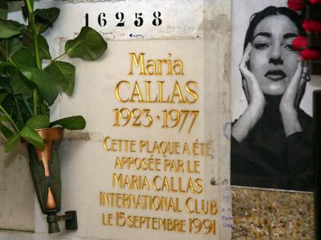 Maria Callas grave Pere Lachaise