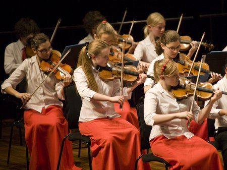 The National Children's Orchestra At London's Quee