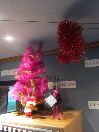 The Classic FM Studio At Christmas