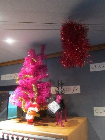 The Classic FM Studio At Christmas