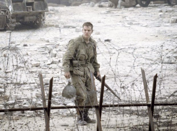 Matt Damon in Saving Private Ryan.