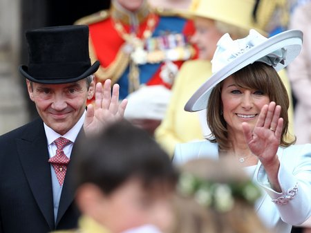 Royal Wedding Day Michael and Carole Middleton