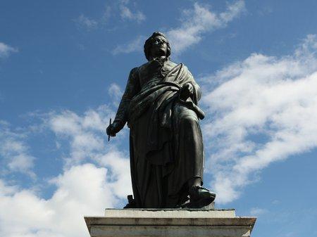 Mozart's statue in Salzburg