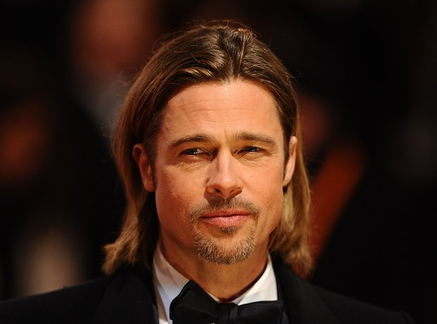 Brad Pitt arrives at the BAFTAs 2012 Awards
