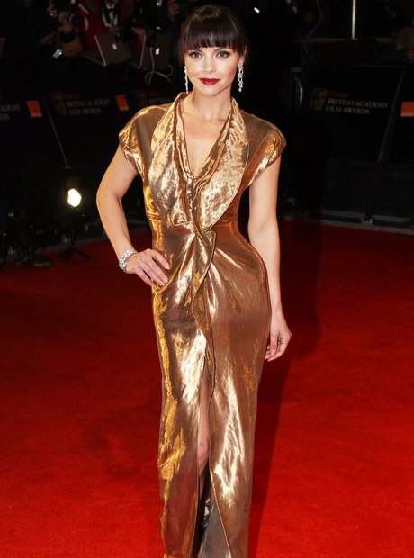 Christina Ricci arrives at the BAFTAS 2012