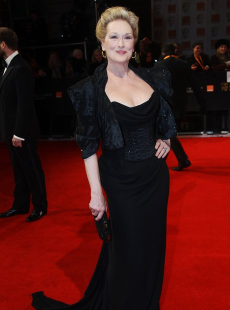 Meryl Streep arrives at the BAFTAS 2012