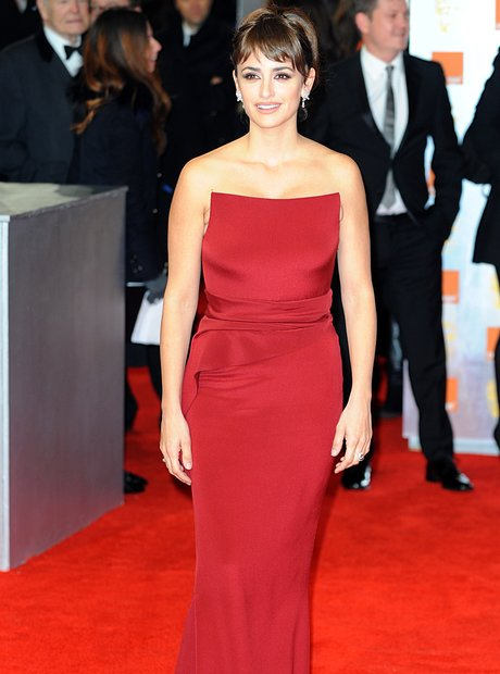 Penelope Cruz arrives for the BAFTAS 2012 Awards