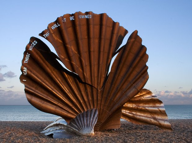 Maggi Hambling The Scallop Aldeburgh beach.