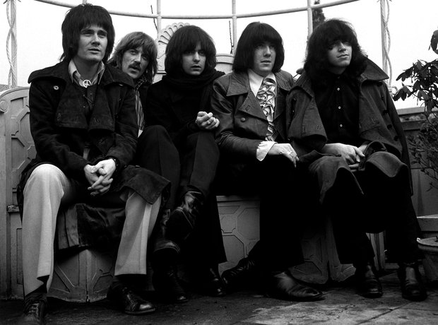 Jon Lord with Deep Purple on the roof of London's Dorchester hotel in January 1969
