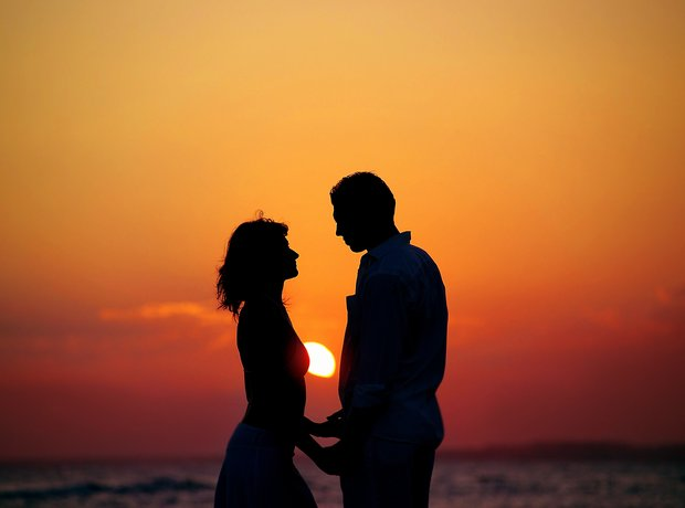 couple sunset