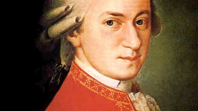 The composer Wolfgang Amadeus Mozart.