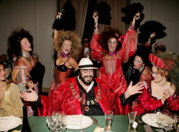 Pavarotti 70th birthday party