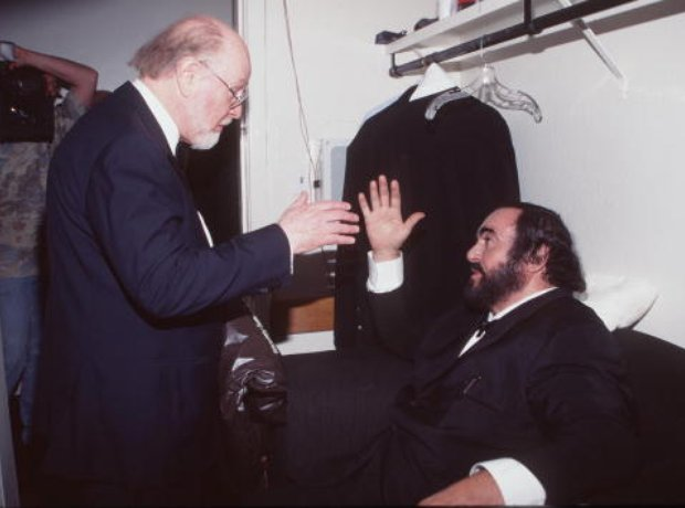 Pavarotti and John Williams