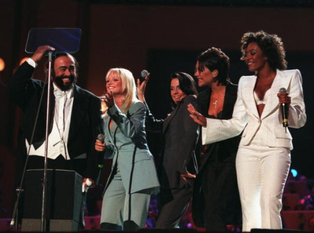 Pavarotti and The Spice Girls