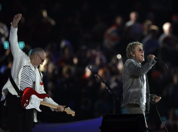 The Who Perform during the Olympics London 2012 Cl