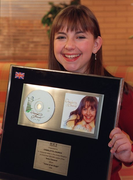 Charlotte Church platinum disc