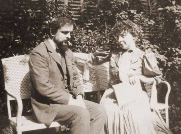 Debussy and wife Emma Bardac
