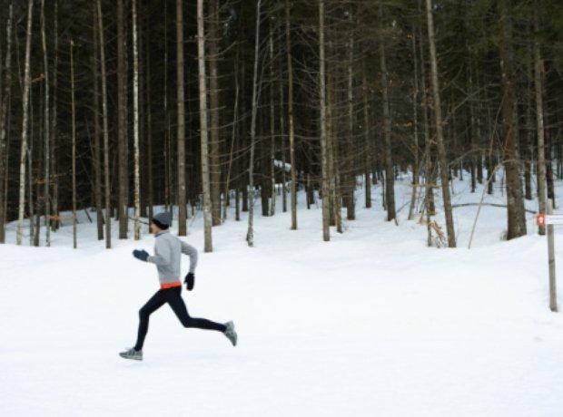 jogging snow