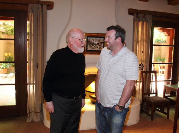 John Williams relaxing with Tommy Pearson