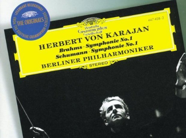 100 classical music recordings you must own classic fm 24 brahms symphony no 1schumann symphony no 1 berlin philharmonickarajan reheart Images