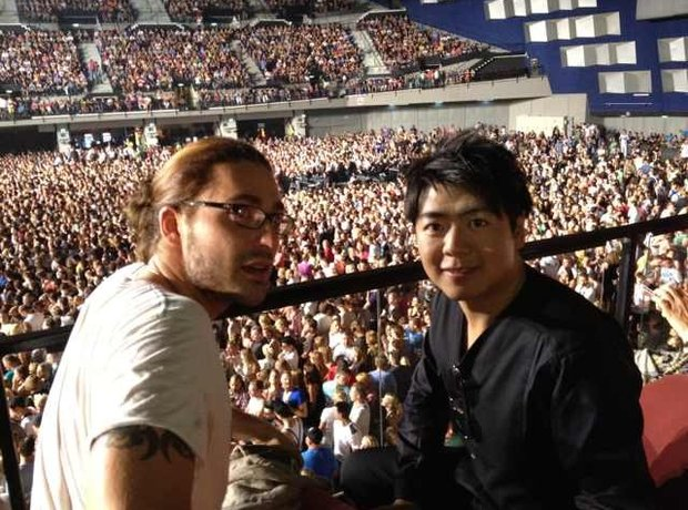 Lang Lang David Garrett at Lady Gaga Concert
