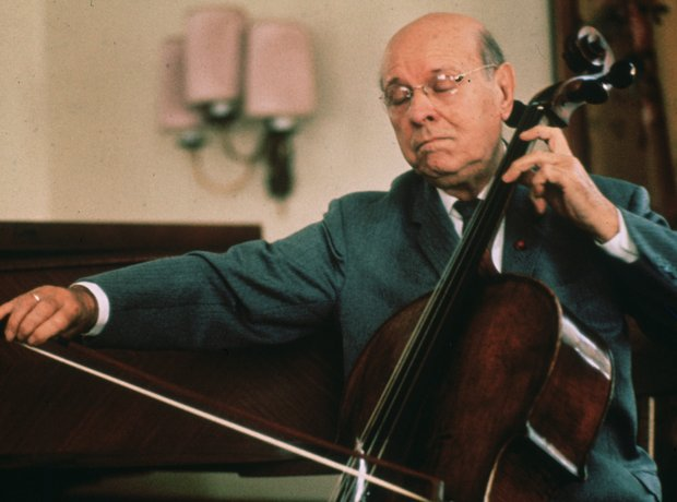 Pablo Casals playing cello