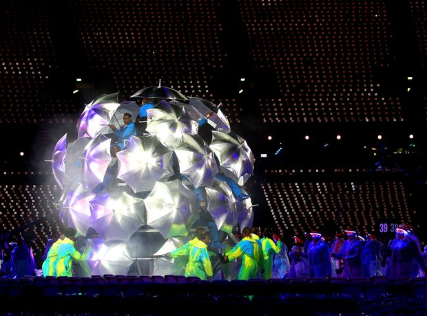 The 2012 Paralympics Opening Ceremony, umbrellas.