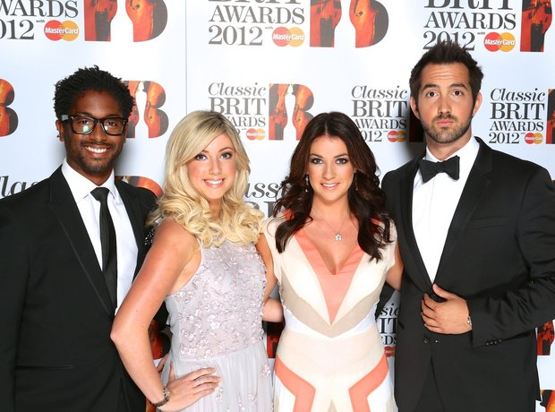 Amore arrive at the Classic BRITS Launch