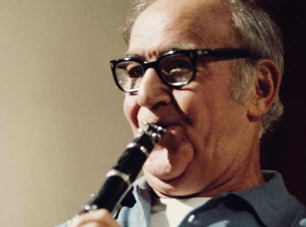 Benny Goodman playing clarinet