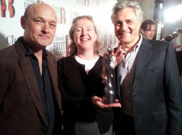 Classic BRITs 2012 Anne-Marie Minhall, John Suchet