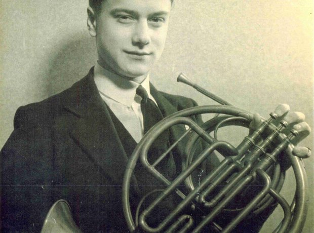 Dennis Brain playing the French horn