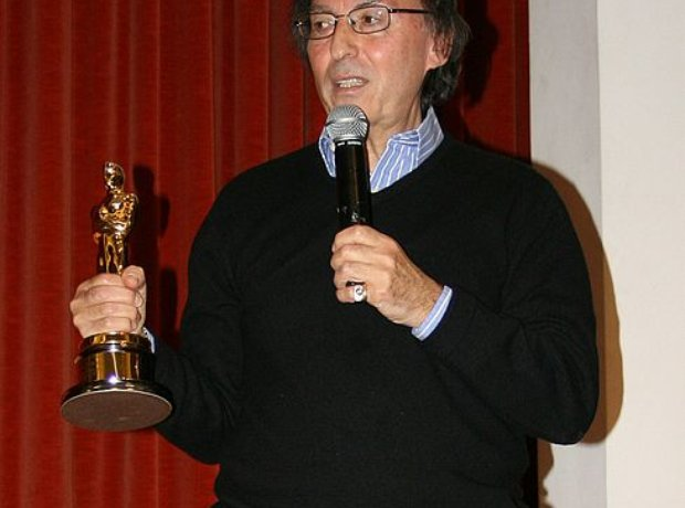 Don Black holding Oscar