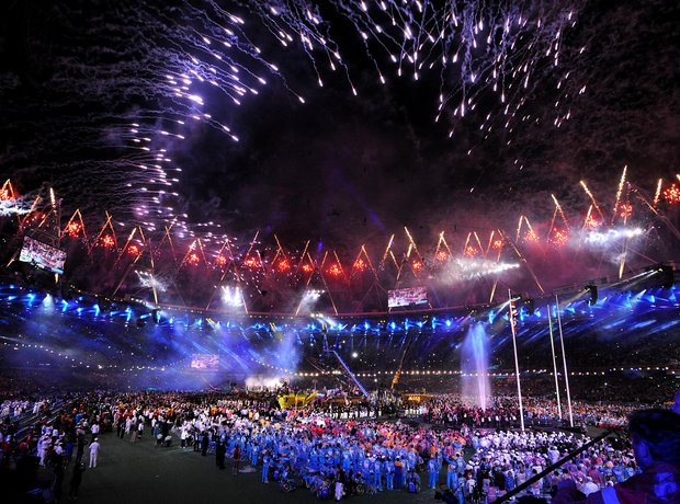 Fireworks during the Paralympics Closing Ceremony