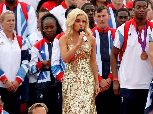 Katherine Jenkins sings the National Anthem