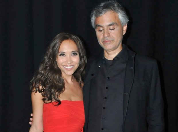 Andre Bocelli and Myleen Klass live at iTunes fest