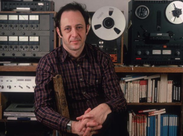Steve Reich with tape player equipment