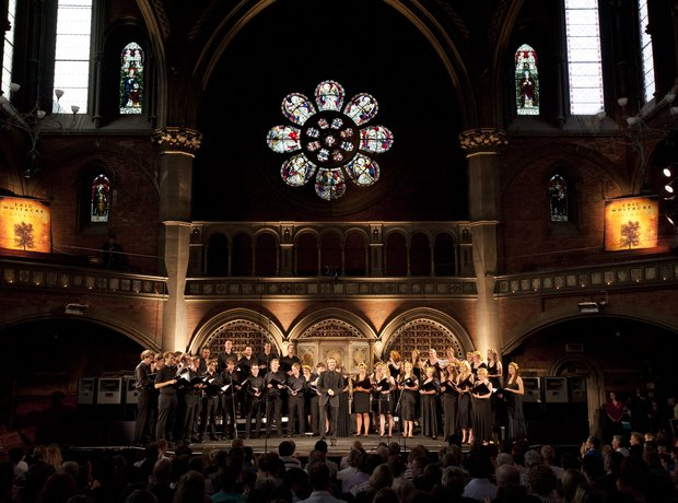 Eric Whitacre singers at union chapel