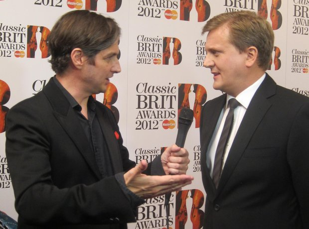aled jones Classic BRIT Awards 2012 backstage