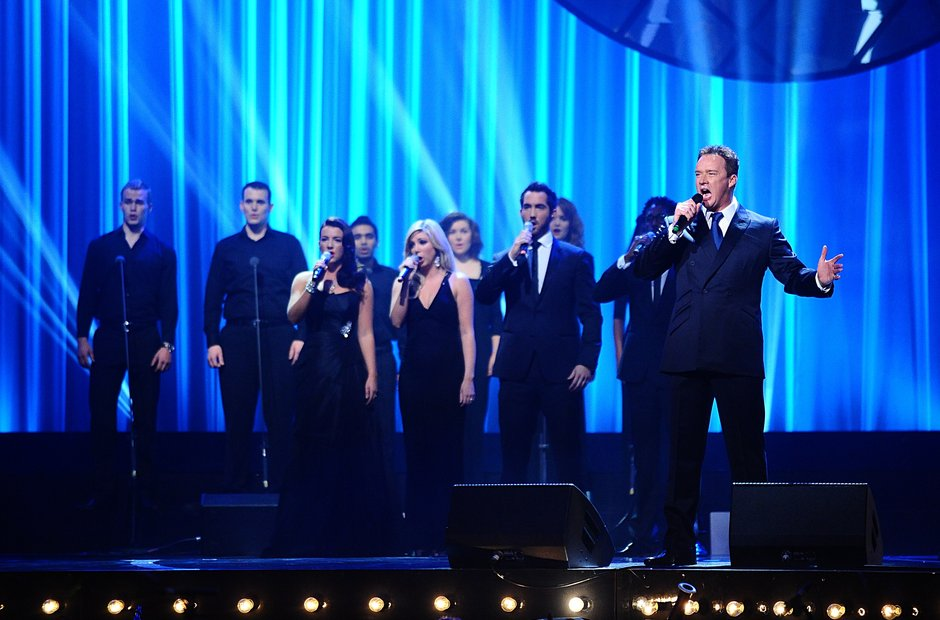 Amor and Russell Watson on stage at the Classic BR