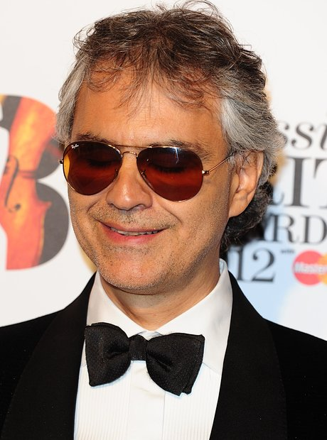 Andrea Bocelli at the Classic BRIT Awards 2012