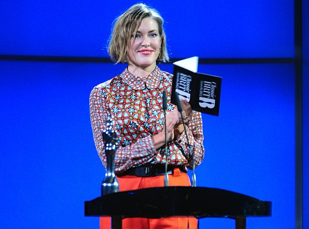 Cerys Matthews on stage at the Classic BRIT Awards