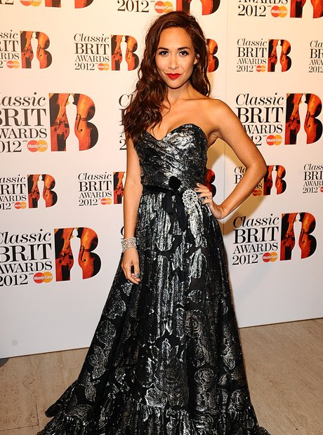 Myleene Klass at the Classic BRIT Awards 2012