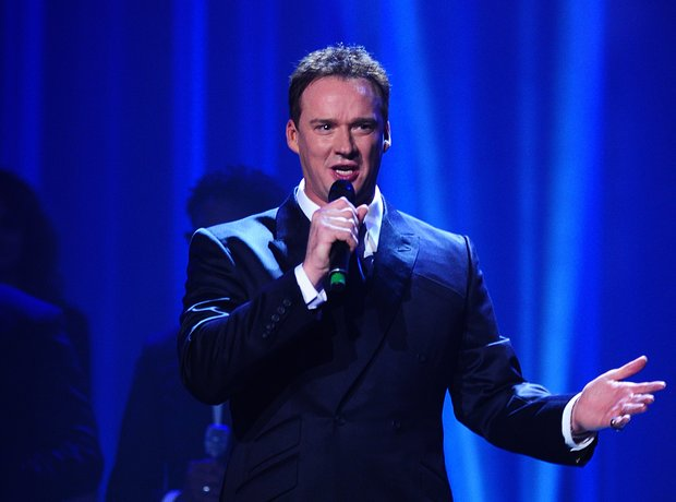 Russell Watson on stage at the Classic BRIT Awards