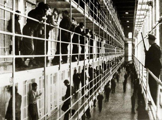 San Quentin Prison interior