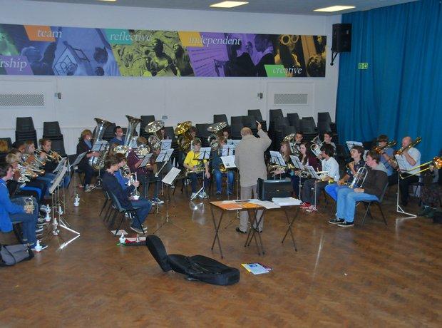 Birmingham Schools Brass Band MFY rehearsal